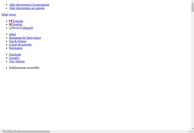 Capture d'écran du site de Hotel Restaurant Jenny