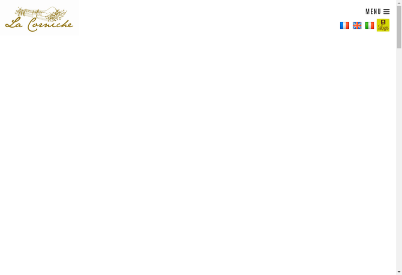 Capture d'écran du site de Hotel de la Corniche