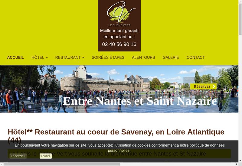 Capture d'écran du site de Hotel le Chene Vert