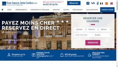 Site internet de Hotel Eurociel