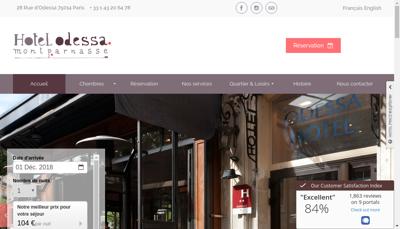 Capture d'écran du site de Hotel Odessa