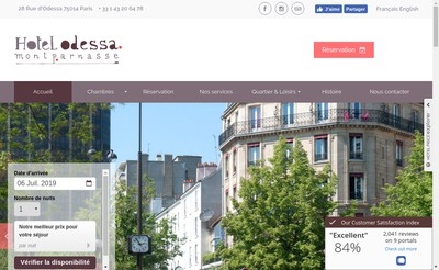 Site internet de Hotel Odessa