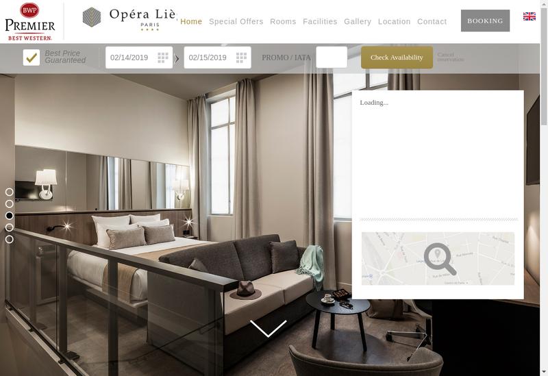 Capture d'écran du site de Hoteliere Opera Liege