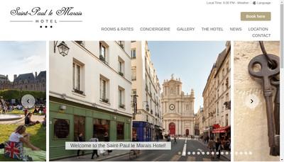 Site internet de Hotel Saint-Paul le Marais
