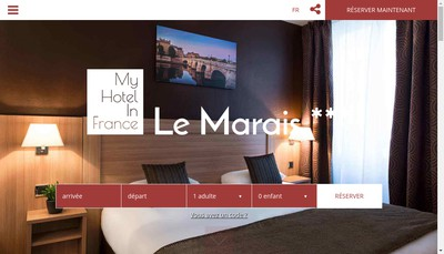 Site internet de My Hotel In France le Marais