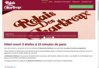 Site internet de Relais des Chartreux