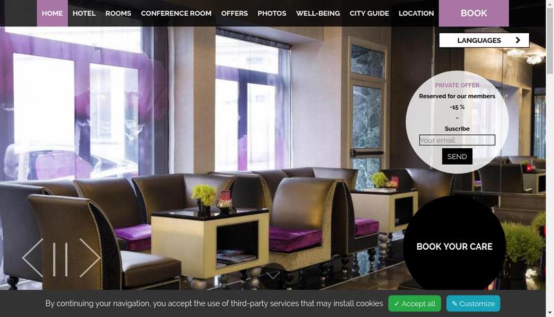 Capture d'écran du site de Grand Hotel Saint Michel