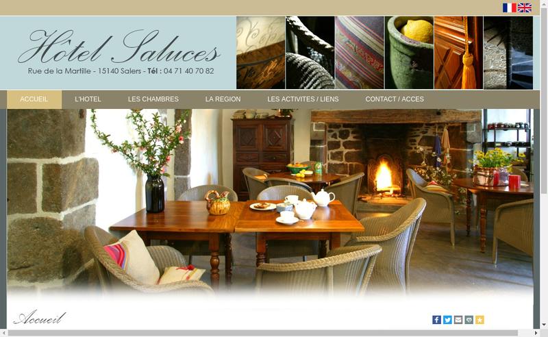 Capture d'écran du site de Hotel Saluces