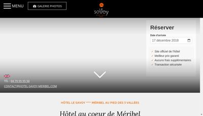 Capture d'écran du site de Hotel le Savoy