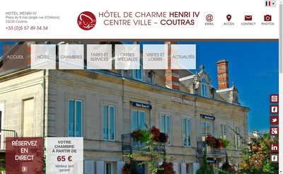 Site internet de Hotel Henry Iv