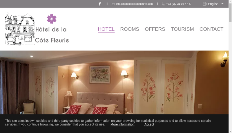 Capture d'écran du site de Hotel de la Cote Fleurie