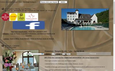 Site internet de Hotel la Riviere