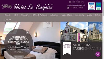 Capture d'écran du site de Hotel le Bayeux