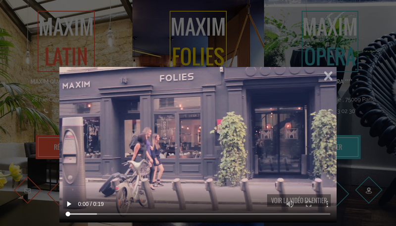 Capture d'écran du site de Hotel Maxim Opera