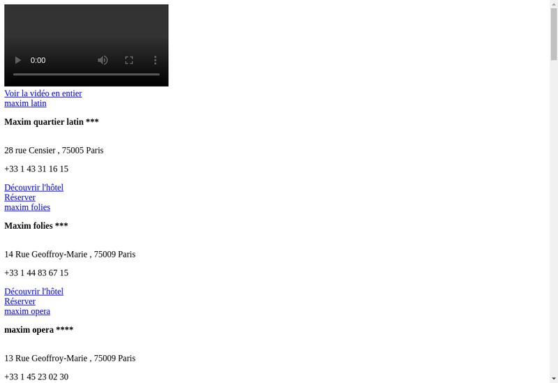 Capture d'écran du site de Hotel Desimpressionnistes