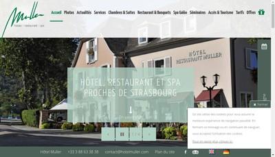 Site internet de Hotel Restaurant Muller SNC
