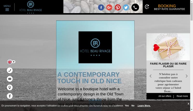 Capture d'écran du site de Hotel Beau Rivage Sdg