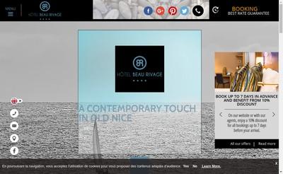 Site internet de Hotel Beau Rivage Sdg