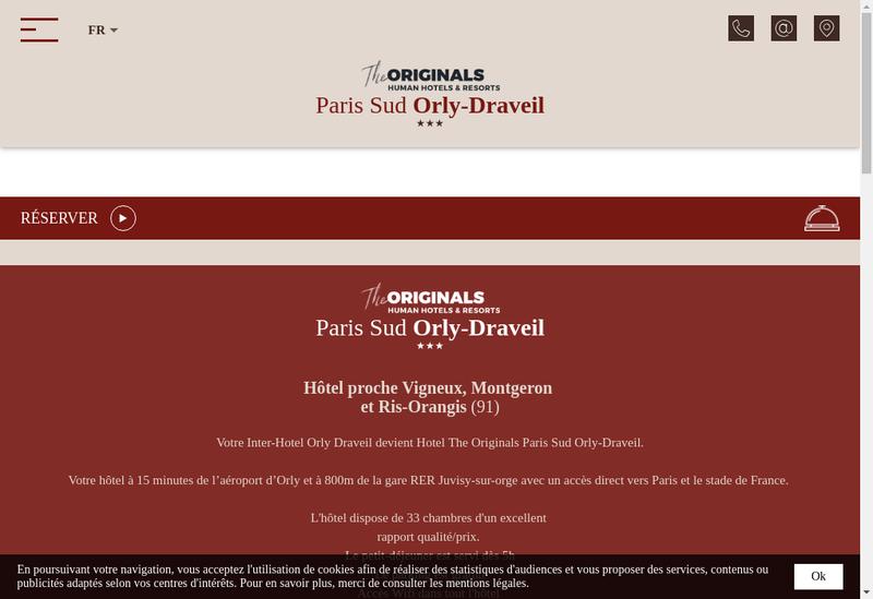 Capture d'écran du site de Hd Hotellerie