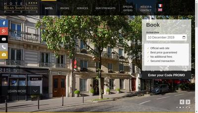 Site internet de Hotel Relais St-Jacques Jardin du Luxembourg