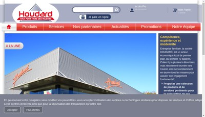 Site internet de Houdard Materiaux