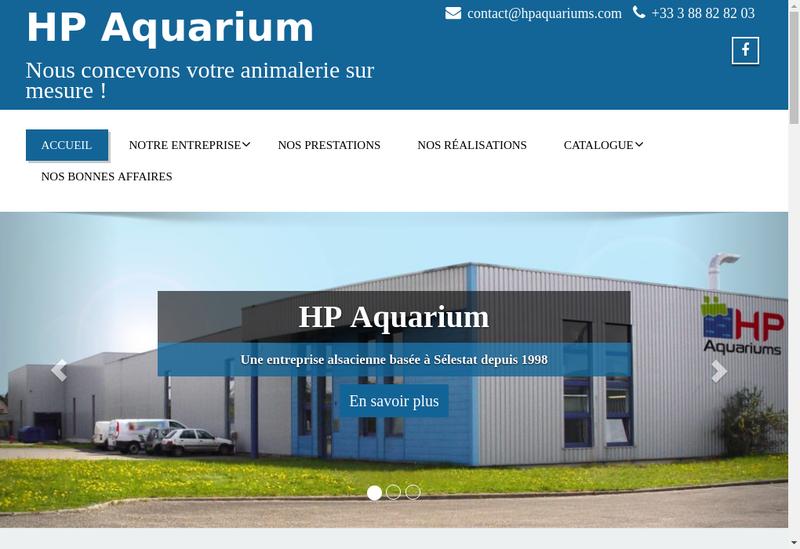 Capture d'écran du site de HP Aquarium