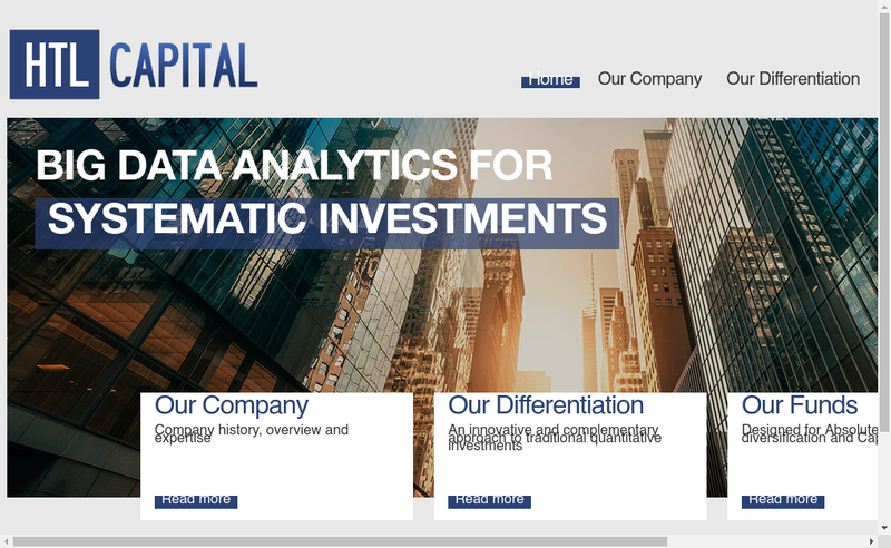 Capture d'écran du site de Htl Capital Management