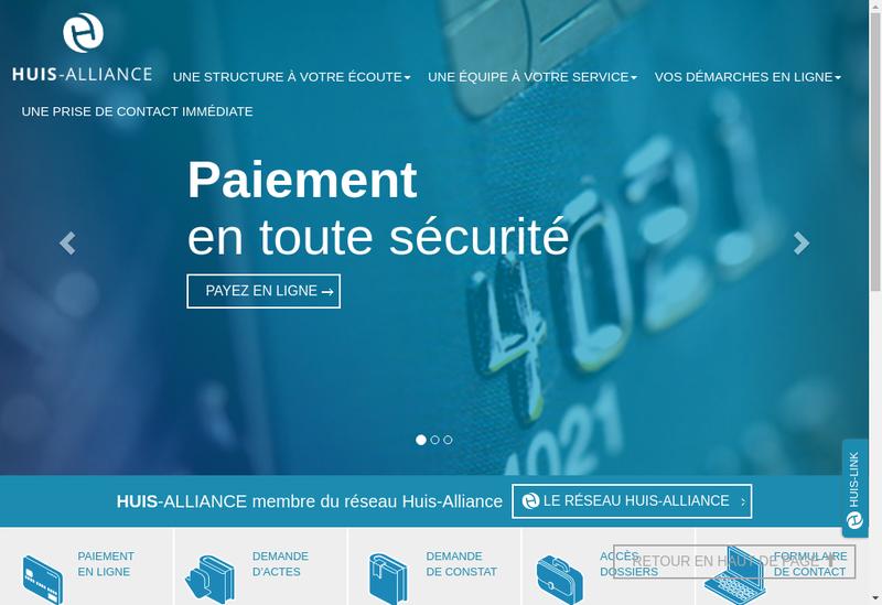 Capture d'écran du site de Huis Alliance