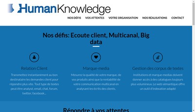 Site internet de Human Knowledge
