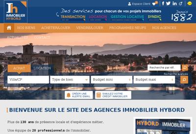 Capture d'écran du site de Agence Hybord