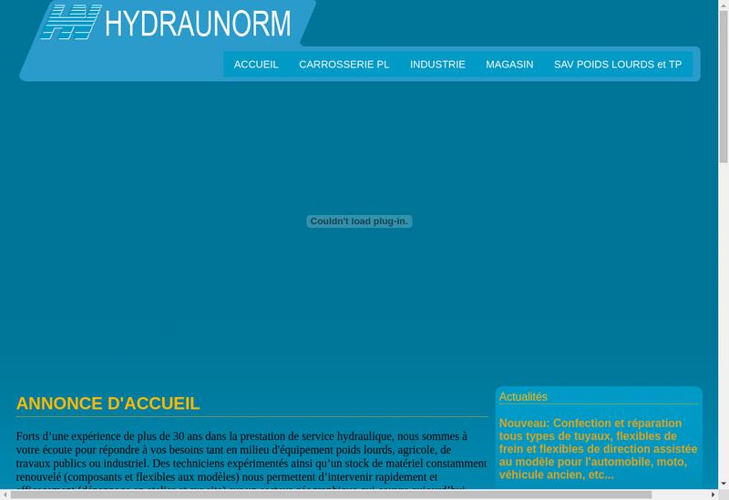 Capture d'écran du site de Hydraunorm