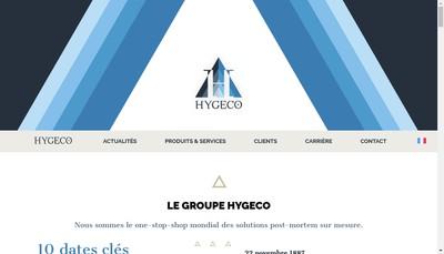 Site internet de Hygeco