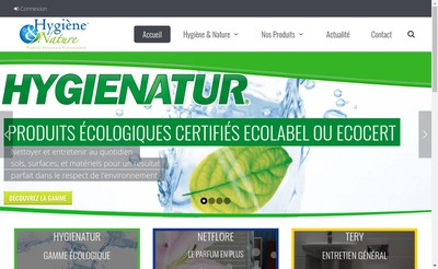 Site internet de Hygiene & Nature