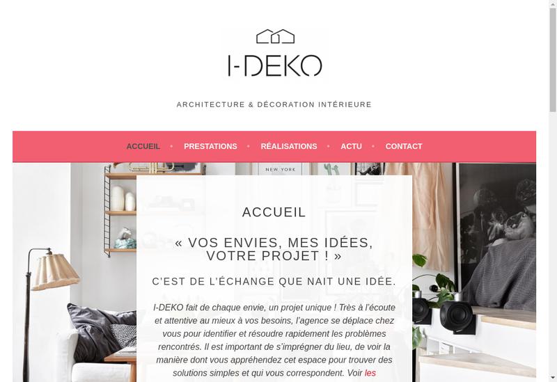 Capture d'écran du site de I Deko