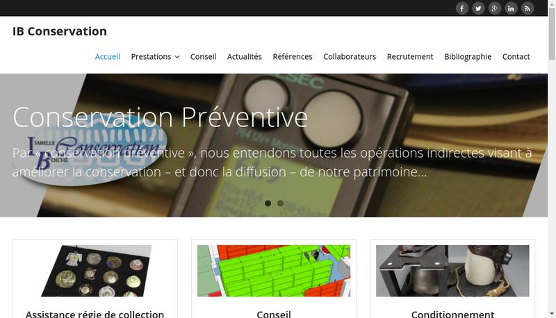 Capture d'écran du site de Isabelle Boiche Mombellet Conservation