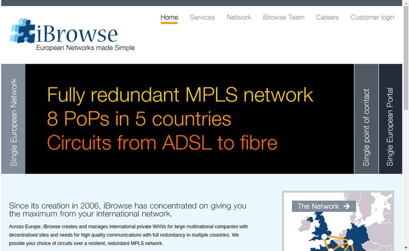 Capture d'écran du site de Ibrowse