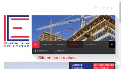 Capture d'écran du site de Icecs