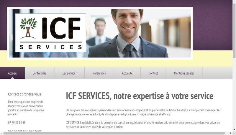 Capture d'écran du site de Icf Services