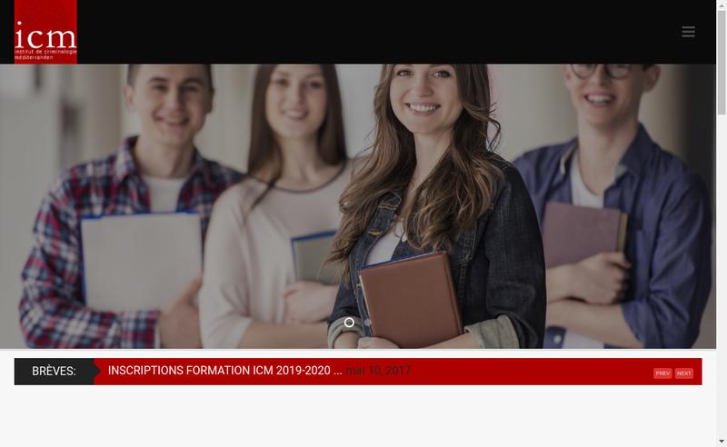 Capture d'écran du site de ICM