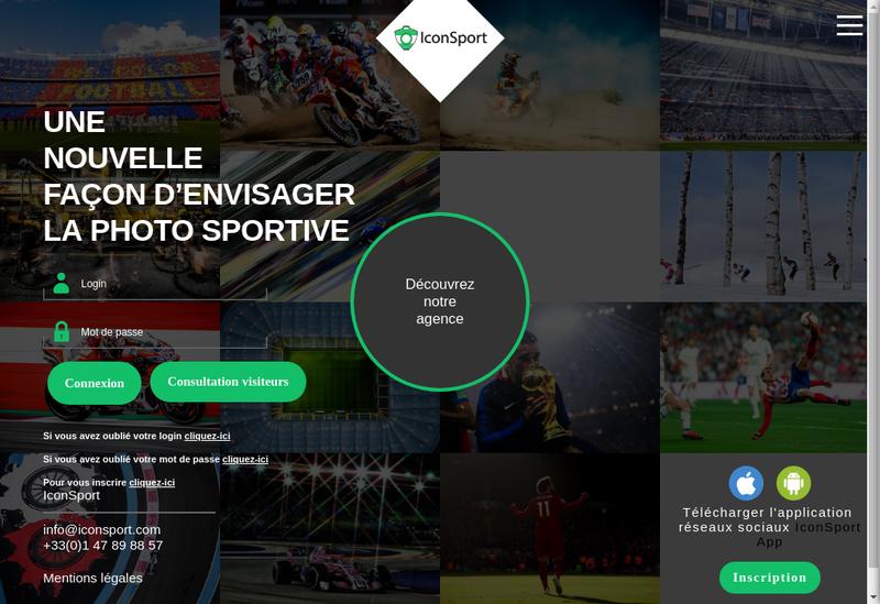 Capture d'écran du site de Icon Sport