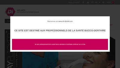 Site internet de Implants Diffusion International