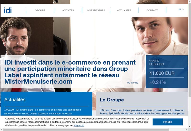 Capture d'écran du site de Adfi 5