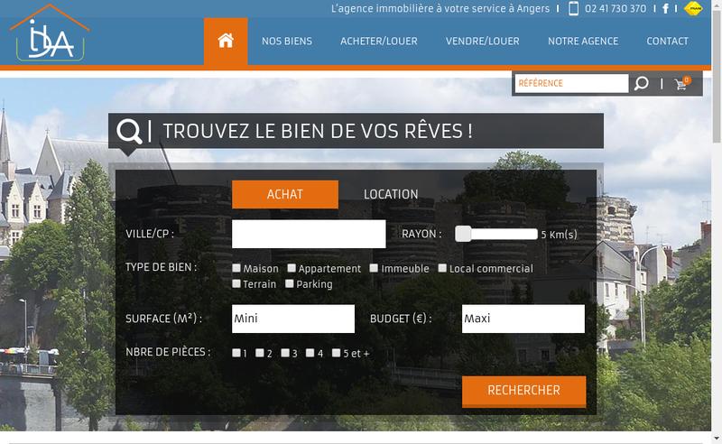 Capture d'écran du site de Idla Immo