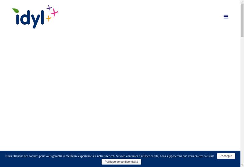 Capture d'écran du site de IDYL