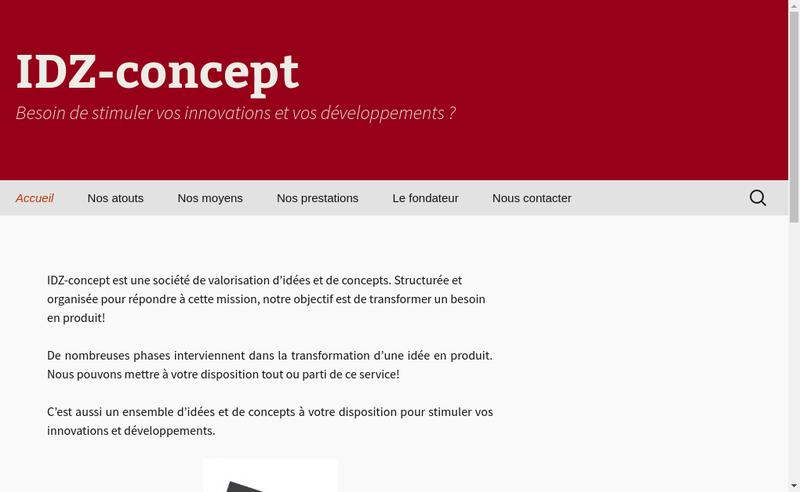 Capture d'écran du site de Idz Concept