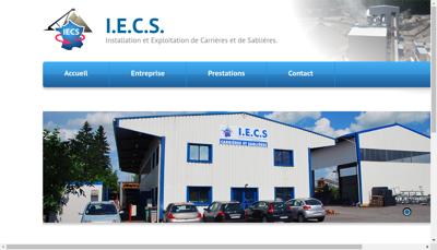 Capture d'écran du site de IECS