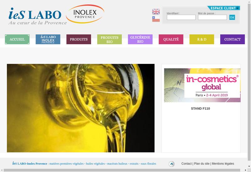 Capture d'écran du site de Ies Labo