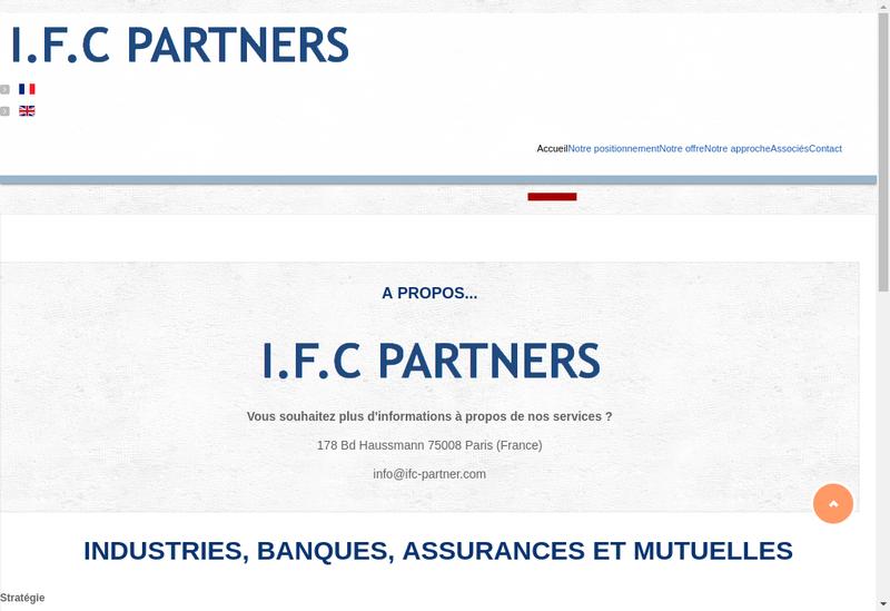 Capture d'écran du site de IFC Partners