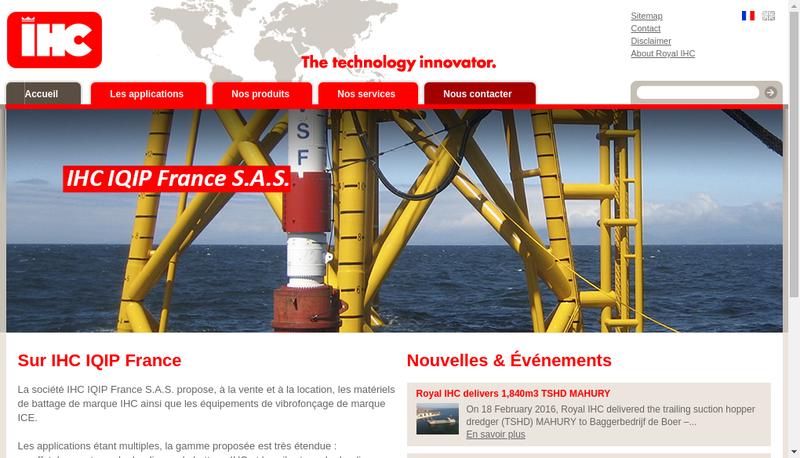 Capture d'écran du site de Ihc Iqip France SAS