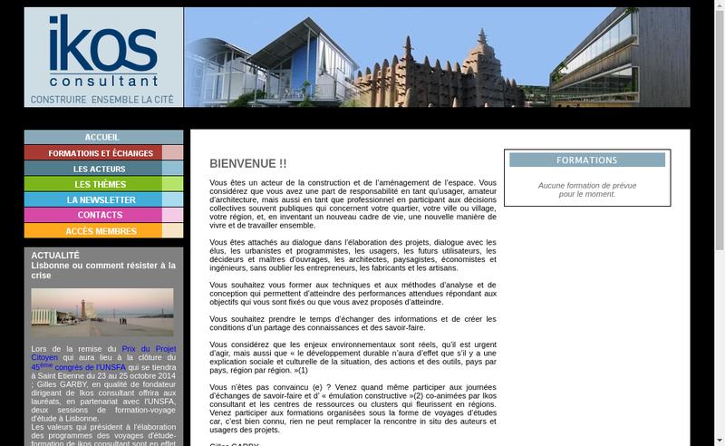 Capture d'écran du site de Ikos Consultant
